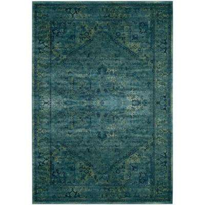 Vintage Turquoise 8 ft. 10 in. x 12 ft. 2 in. Area Rug