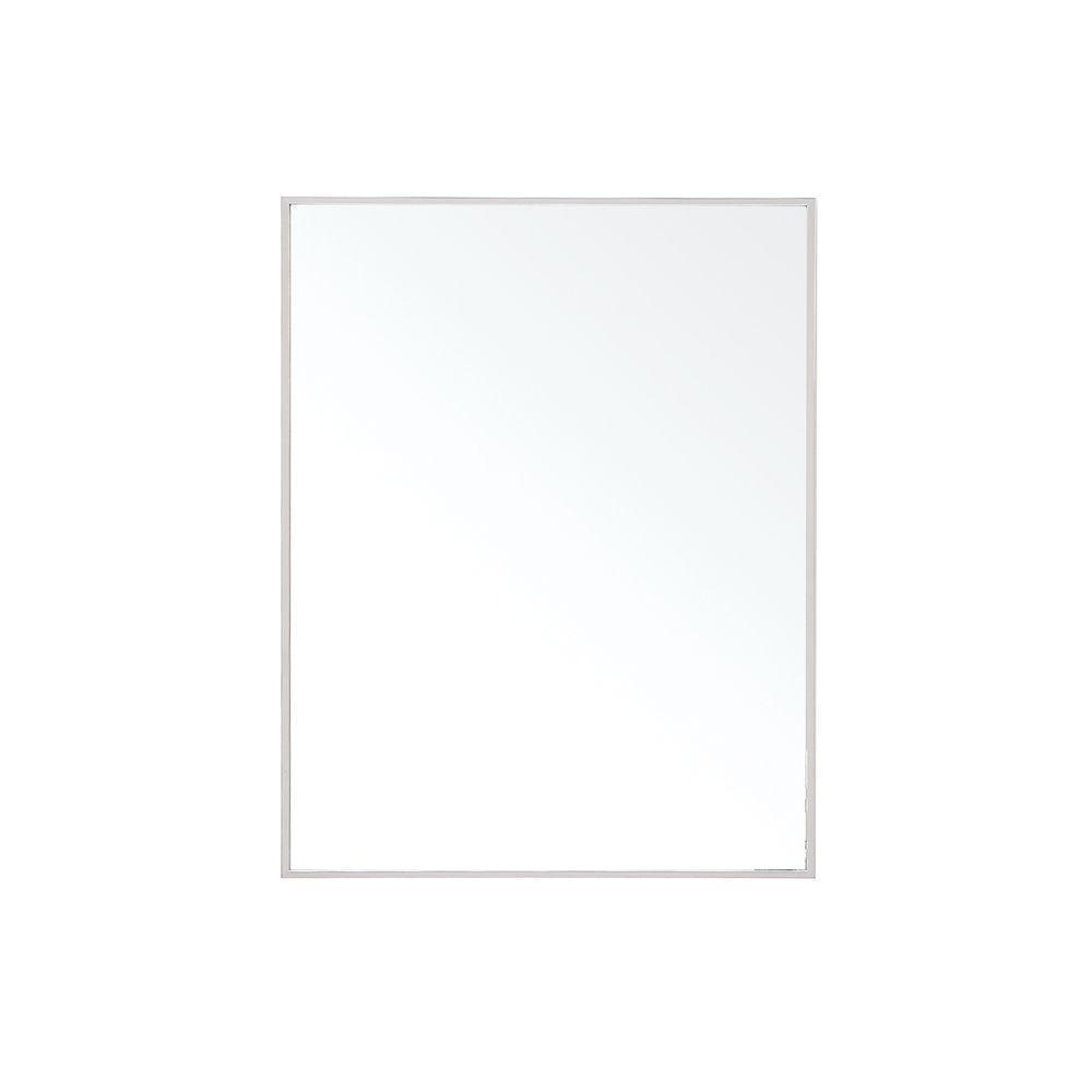 Avanity Sonoma 32 in. L x 24 in. W Framed Wall Mirror in Nickel