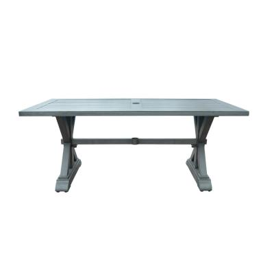 Lamphere 29.50 in. Dark Grey Rectangular Aluminum Outdoor Dining Table