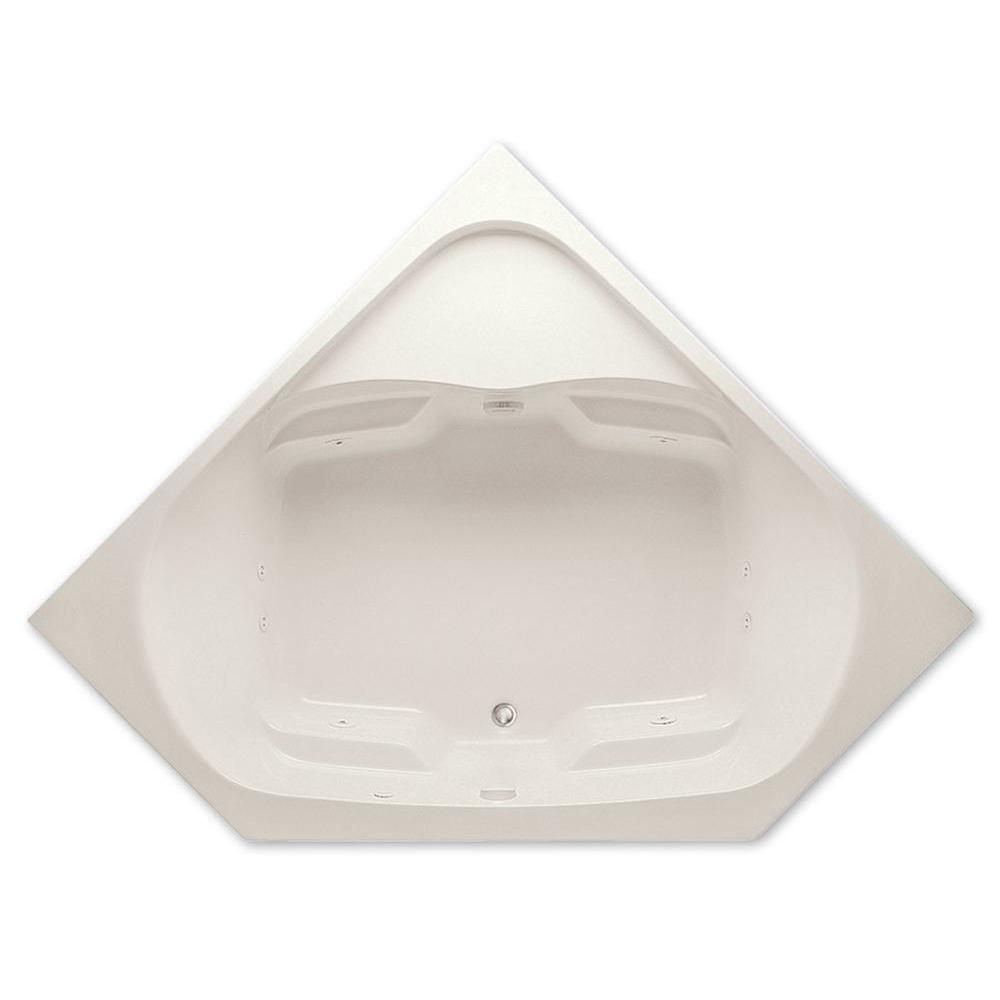 Cavalcade 5 ft. Center Drain Acrylic Whirlpool Bath Tub in Biscuit