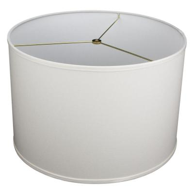 18 in. Top Diameter x 18 in. Bottom Diameter x 12 in. H Linen Cream Drum Lamp Shade