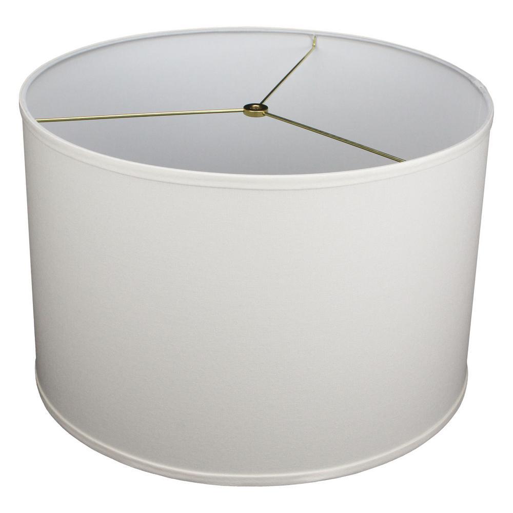 18 in. Top Diameter x 18 in. Bottom Diameter x 12 in. H Linen Cream Drum Lamp Shade