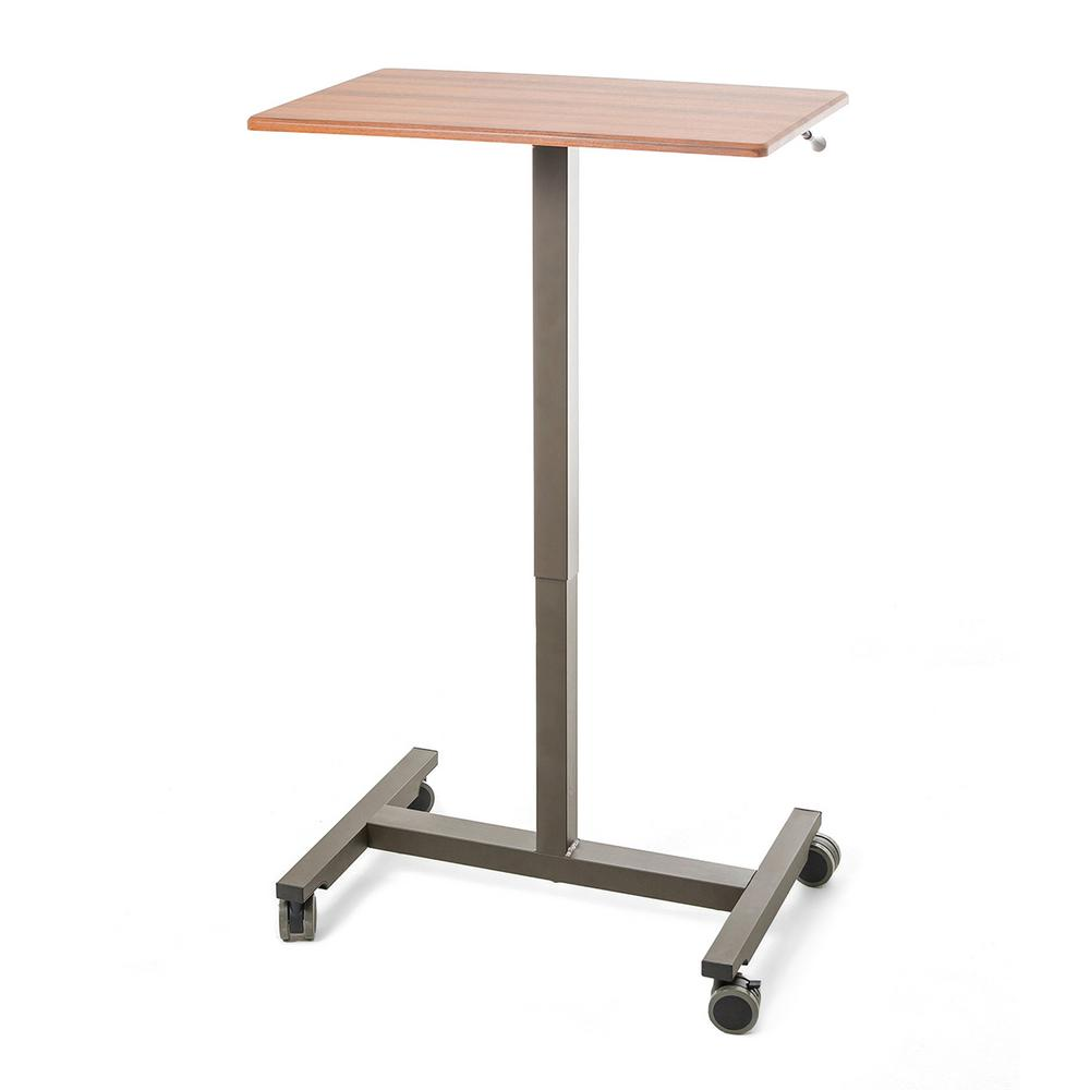 2acb7fa4354 Seville Classics AIRLIFT 24.4 in Maple Laptop Mobile Desk Cart With  Adjustable Height Range 29.3 in