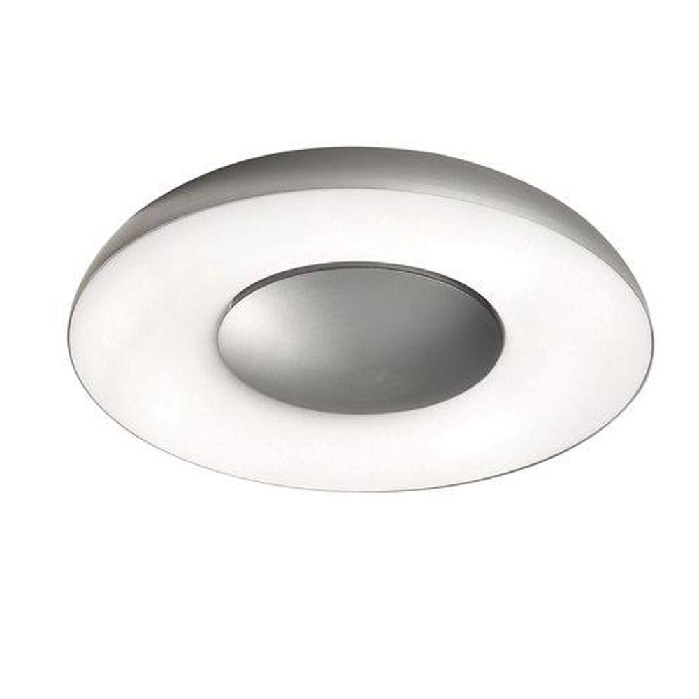 Element 1-Light Brushed Nickel Ceiling/Wall Flushmount Sconce