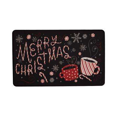 Hot Chocolate Christmas 22 in. x 36 in. Prestige Kitchen Mat