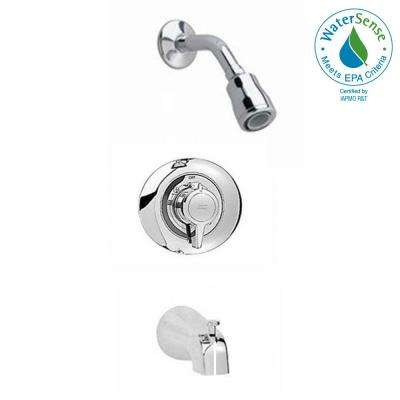 Colony 1-Handle Tub and Shower Faucet Trim Kit in Polished Chrome (Valve Not Included)