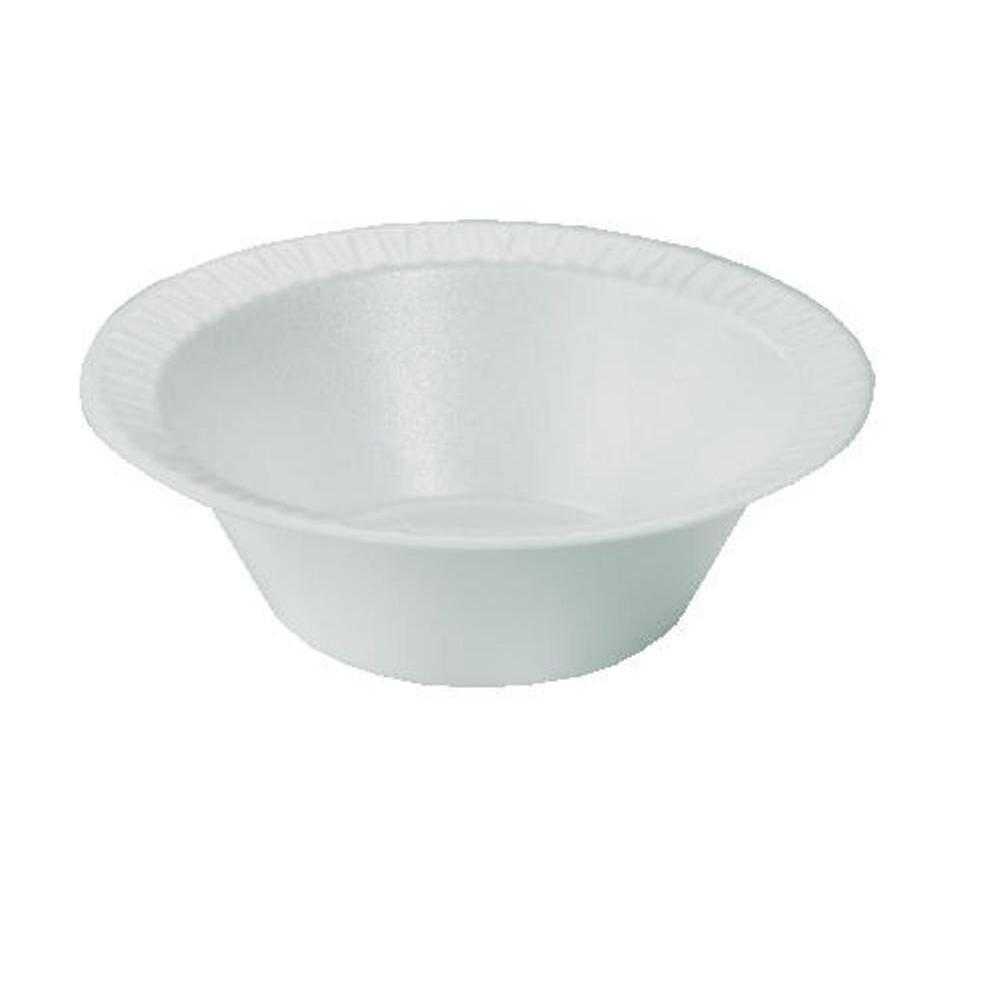 DART Concorde Non-Laminated Foam Bowls, 10-12 oz., White, 1000 Count