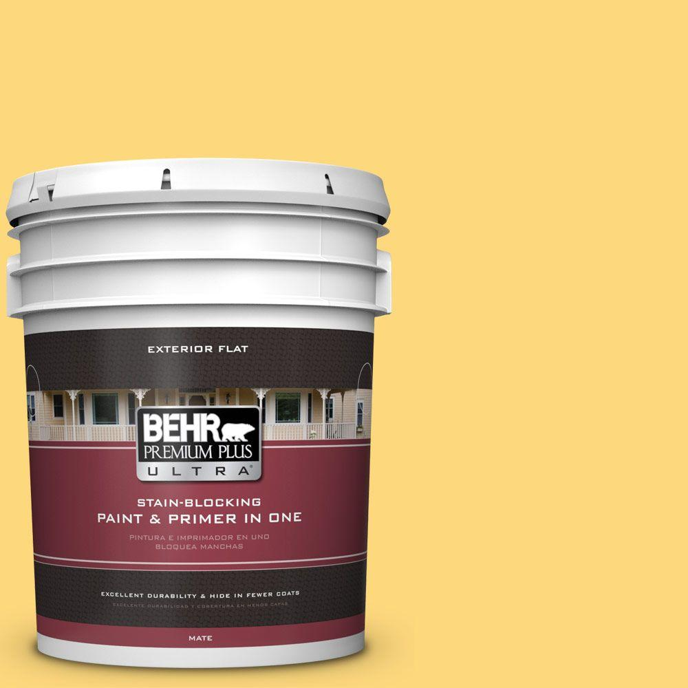 BEHR Premium Plus Ultra 5 gal. #hdc-SM16-05 Deviled Egg F...