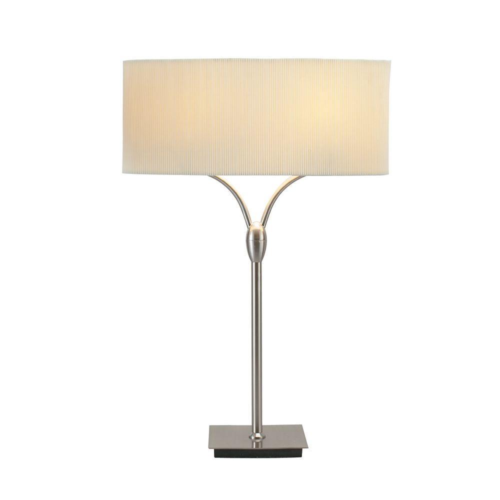 Adesso Wishbone 27 In. Satin Steel Table Lamp