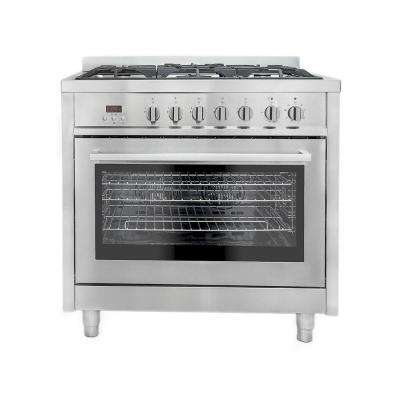 36 in. 3.8 cu. ft. Dual Fuel Range with Convection Oven in Stainless Steel
