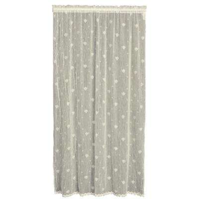 Bee Ecru Lace Curtain 45 in. W 96 in. L