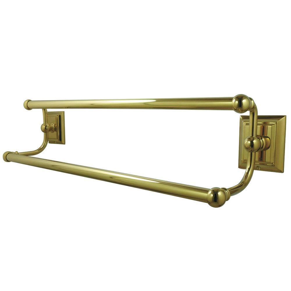 Polished Brass Bathroom Towel Bars: Kingston Brass Millennium 24 In. Double Towel Bar In