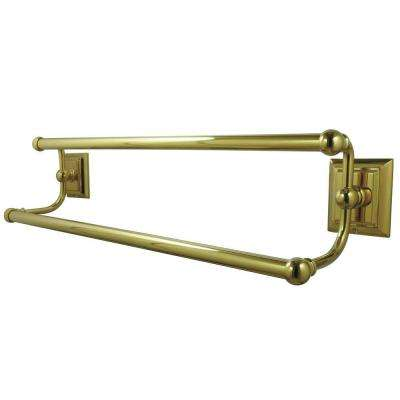 Millennium 24 in. Double Towel Bar in Polished Brass