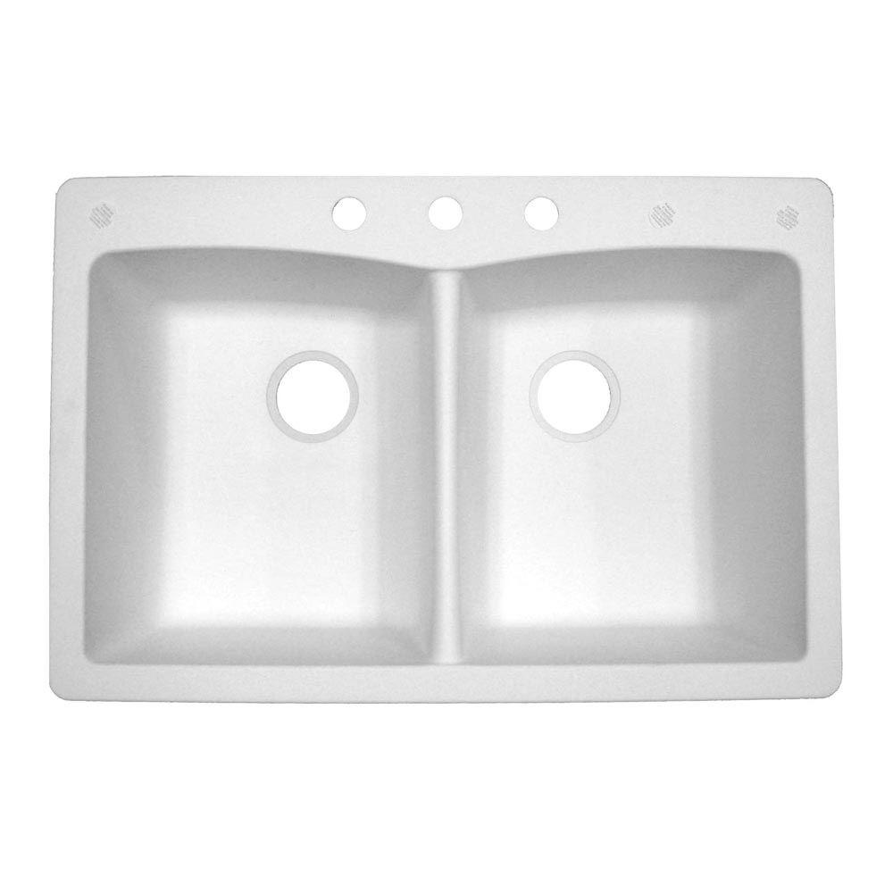 Pegasus Double Bowl Composite Granite Kitchen Sink
