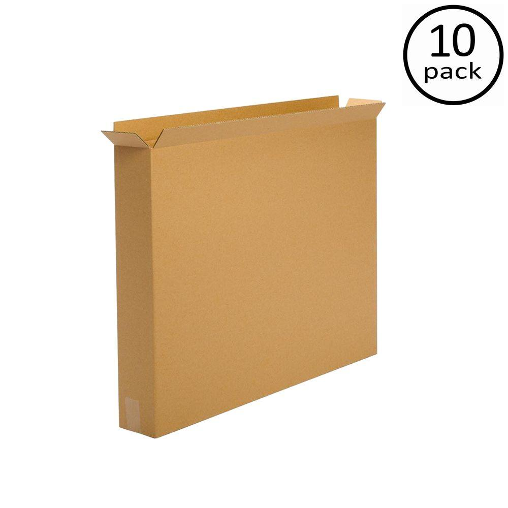 Plain Brown Box 36 in. x 6 in. x 42 in. Moving Box (10-Pack)