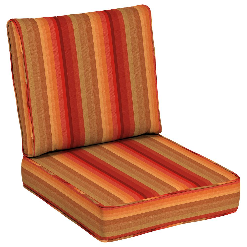 24 x 24 Outdoor Lounge Chair Cushion in Sunbrella Astoria Sunset