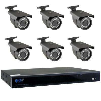 8-Channel HD-Coaxial Surveillance System (6) 5MP Cameras 3.3 mm - 12 mm Varifocal Lens 98 ft. and 2TB HDD