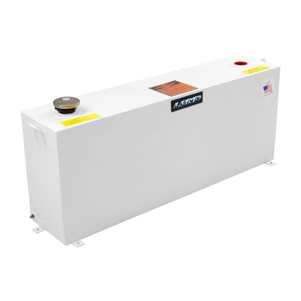 Lund 50 Gal. Vertical Liquid Storage Transfer Tank, White