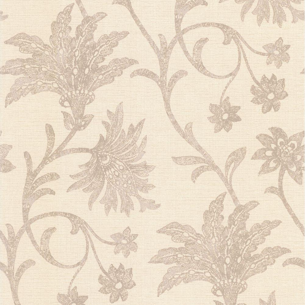 Jasmine Beige Floral Trail Wallpaper