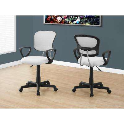 White Multi Position Kids Office Chair