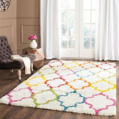 Kids Shag Ivory/Multi 3 ft. x 5 ft. Area Rug