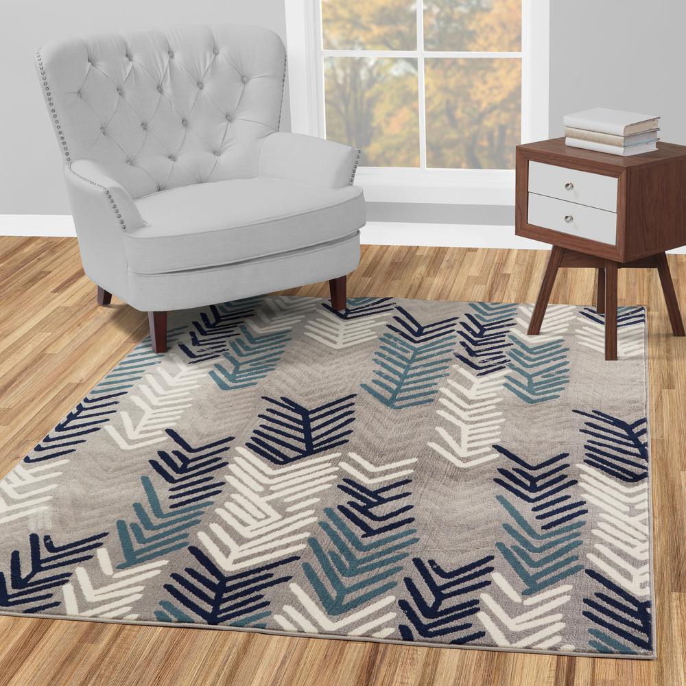 Diagona Designs Jasmin Collection Contemporary Floral Design Gray