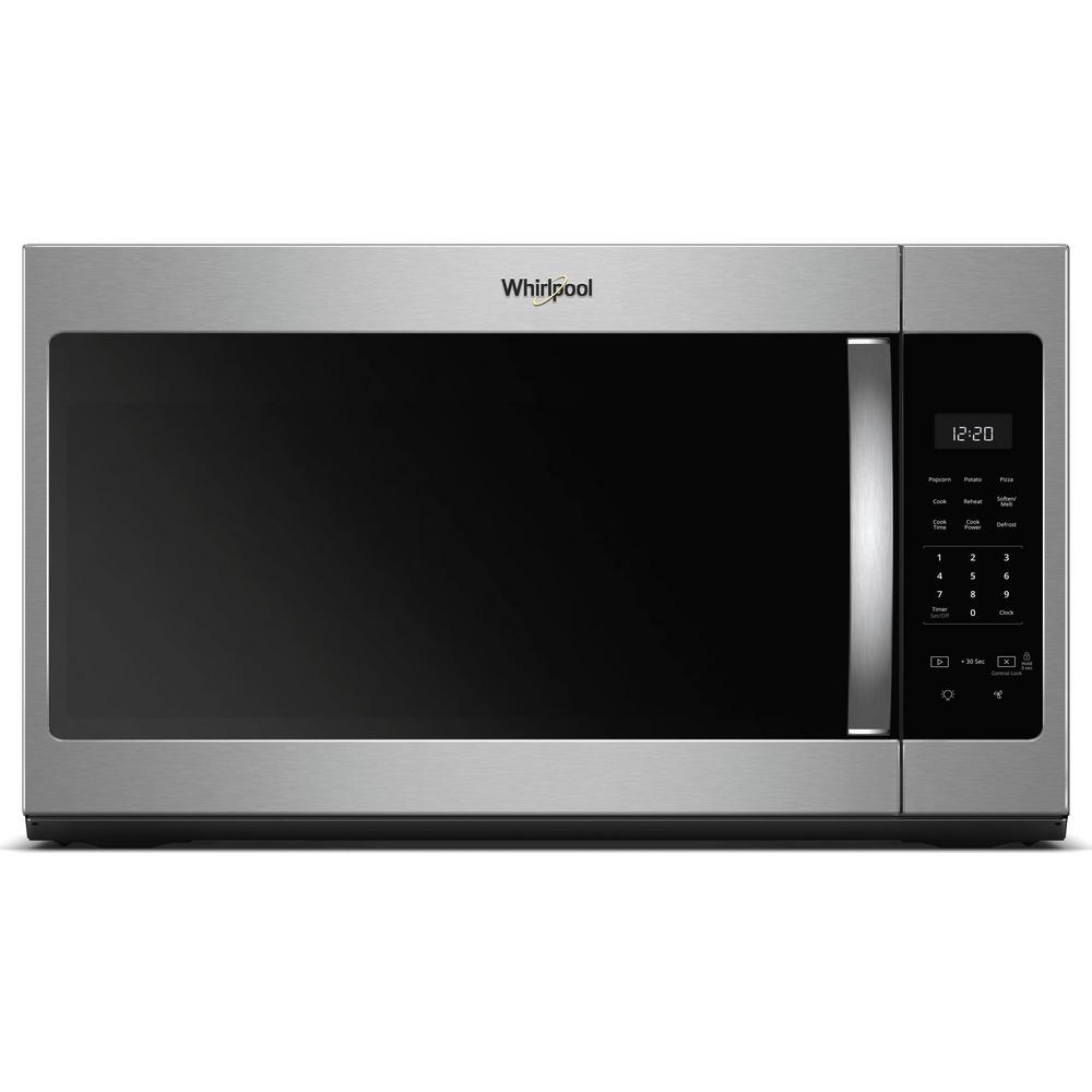 Whirlpool 1 7 Cu Ft Over The Range Microwave In