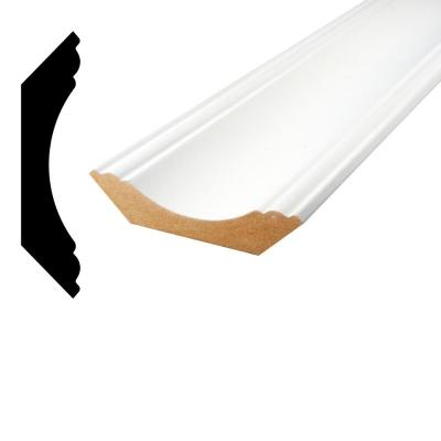 1 in. x 4-1/2 in. x 96 in. Primed MDF Crown Moulding
