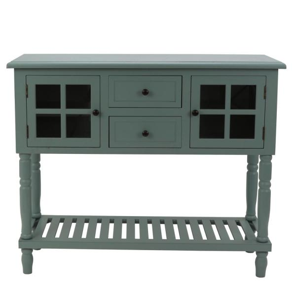 Morgan Antique Iced Blue Console Table