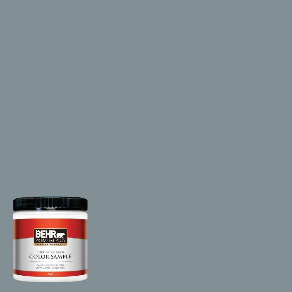 BEHR Premium Plus 8 oz. #740F-4 Dark Storm Cloud Interior/Exterior Paint Sample