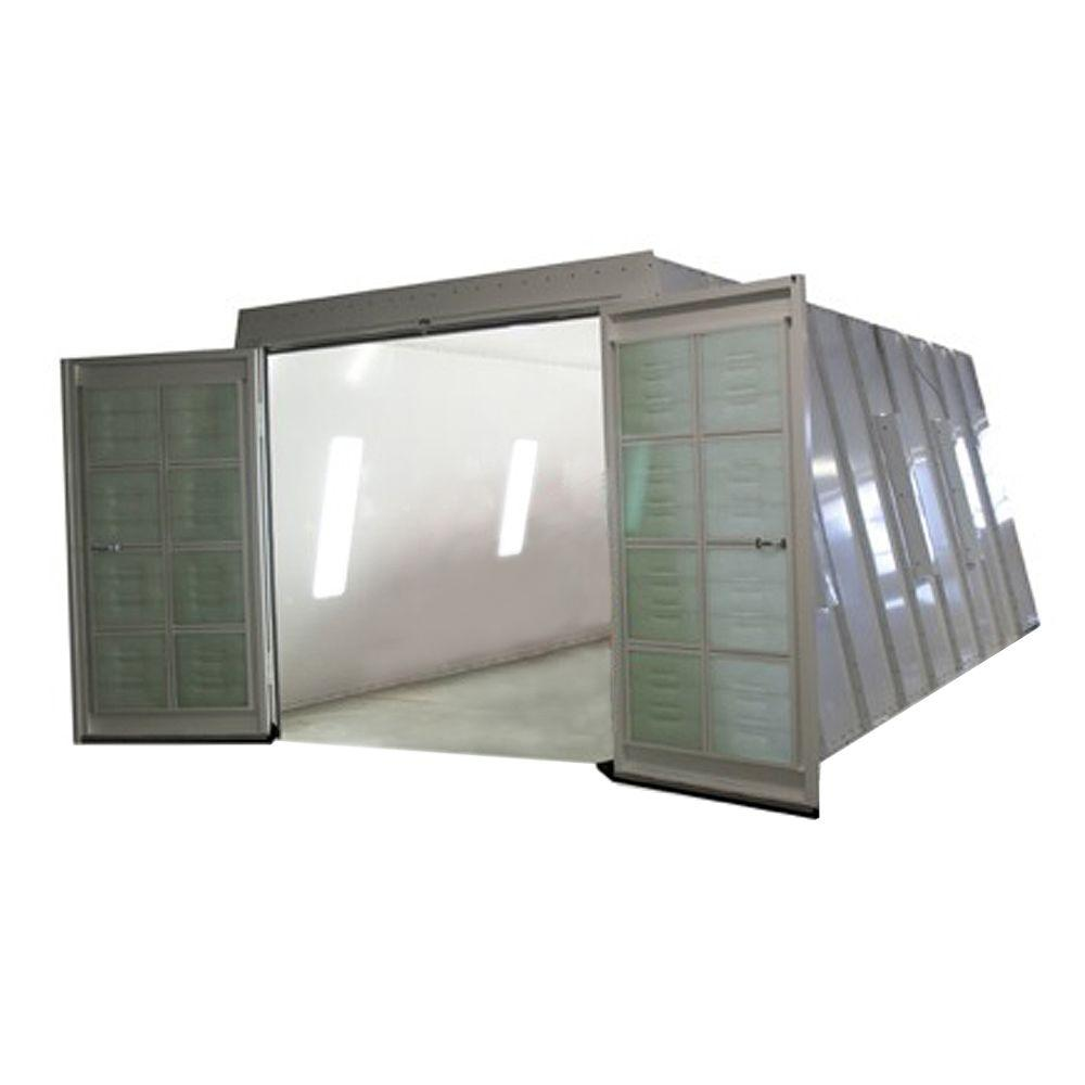 COL-MET 13 ft. x 8 ft. x 23 ft. Crossdraft Spray Booth with Exhaust Duct and UL Listed Control Panel in Northeast Region