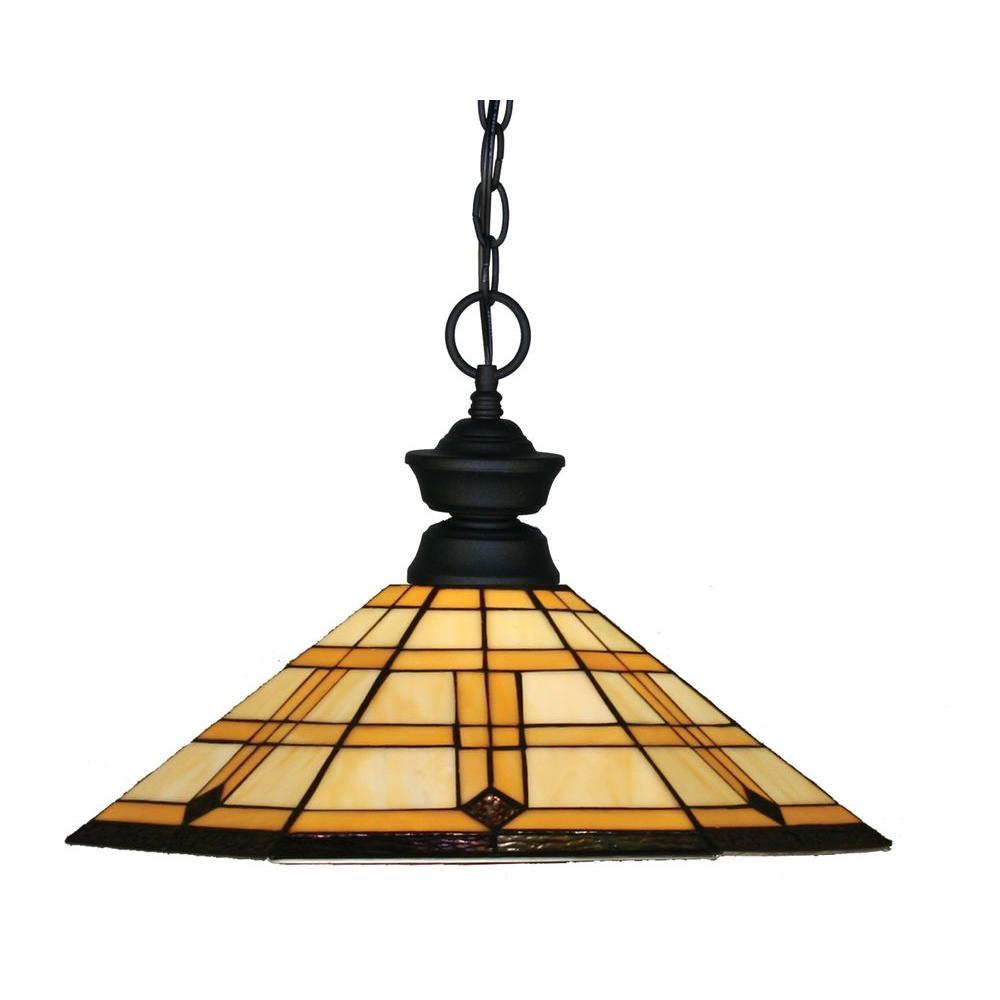 Tulen Lawrence 1-Light Sand Black Incandescent Ceiling Pendant