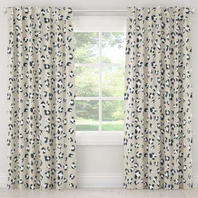 50 in. W x 96 in. L Blackout Curtain in Brush Cheetah Ivory