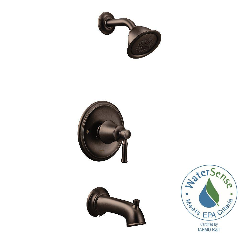 Posi-Temp WaterSense 1-Handle Wall-Mount Tub and Shower Faucet Trim Kit in