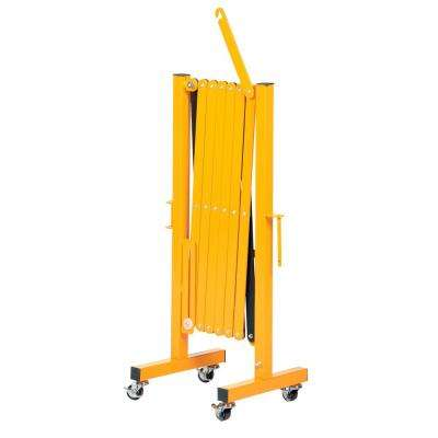 139 in. x 40 in. Yellow Steel Expand-A-Gate with Wheels