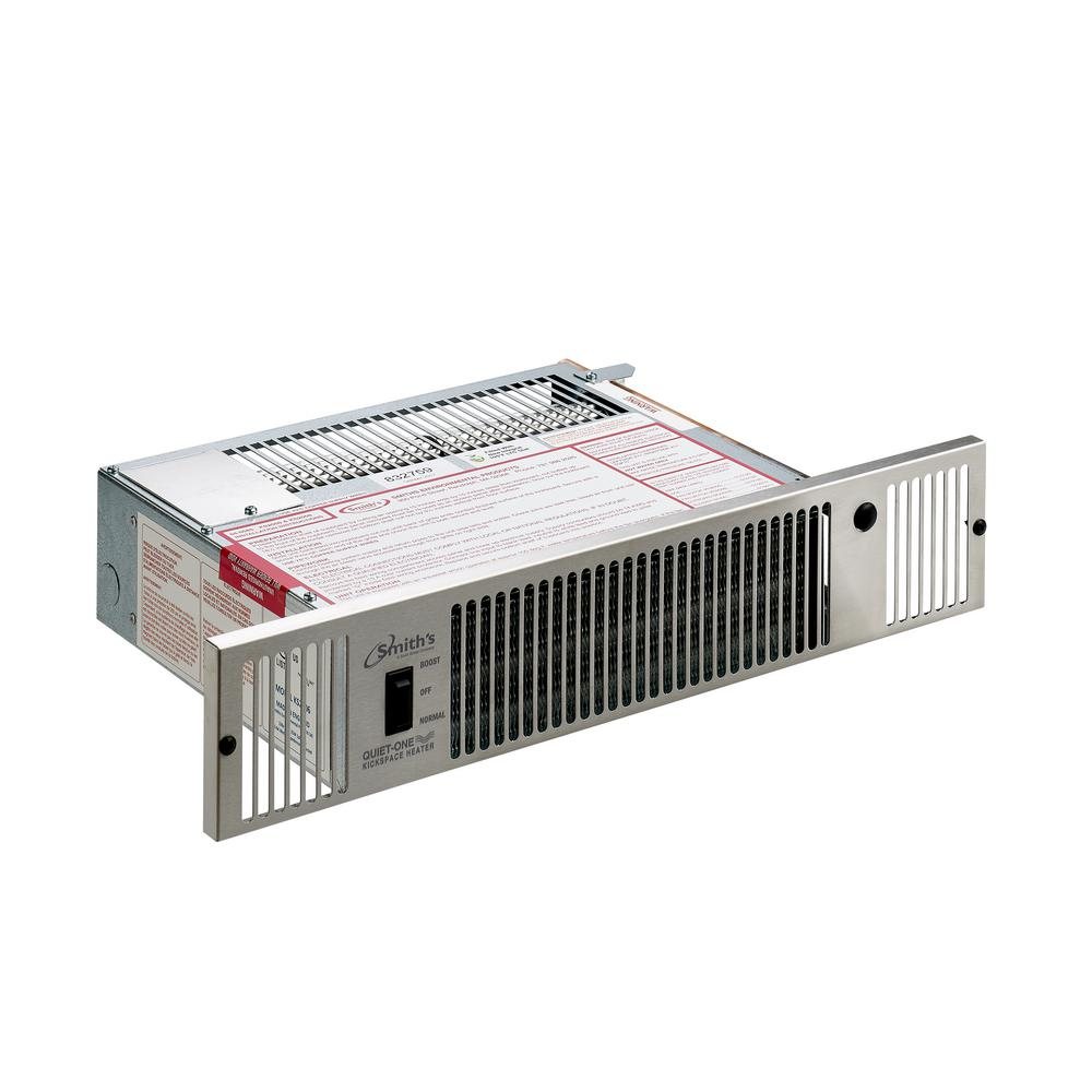 Quiet-One 2000 Series 7,100 BTU Hydronic Kickspace Heater in Stainless Steel (Not Electric)