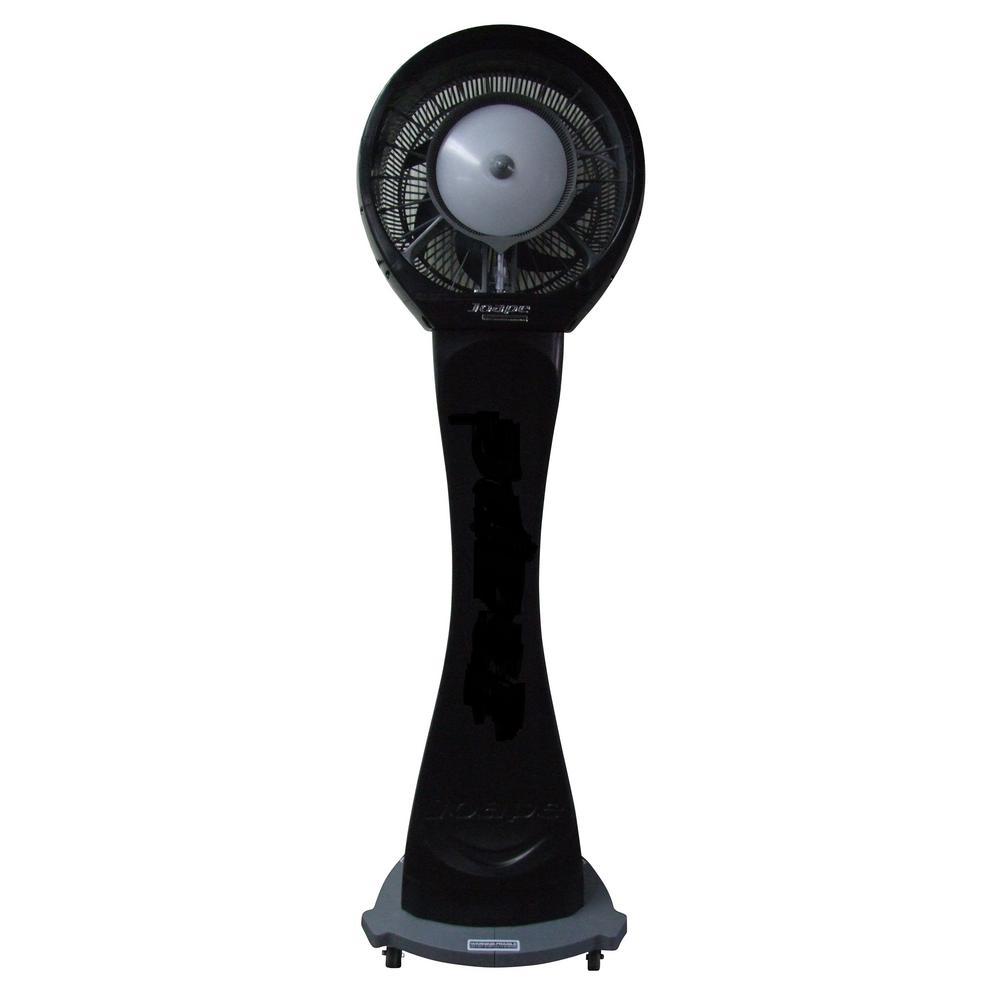 Copacabana 29 in. Reservoir Misting Fan in Black, Cools 1,500 sq. ft.