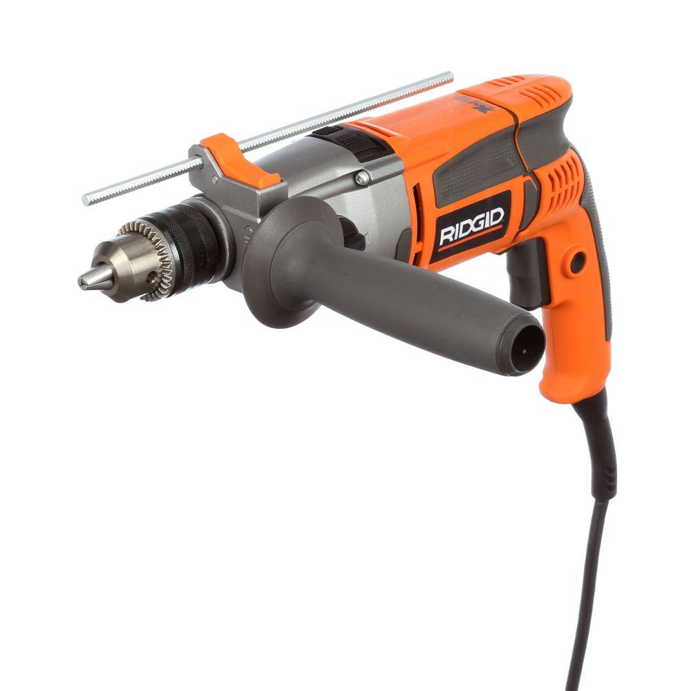 ridgid 8 5 amp corded 1 2 in heavy duty hammer drill r50111 the