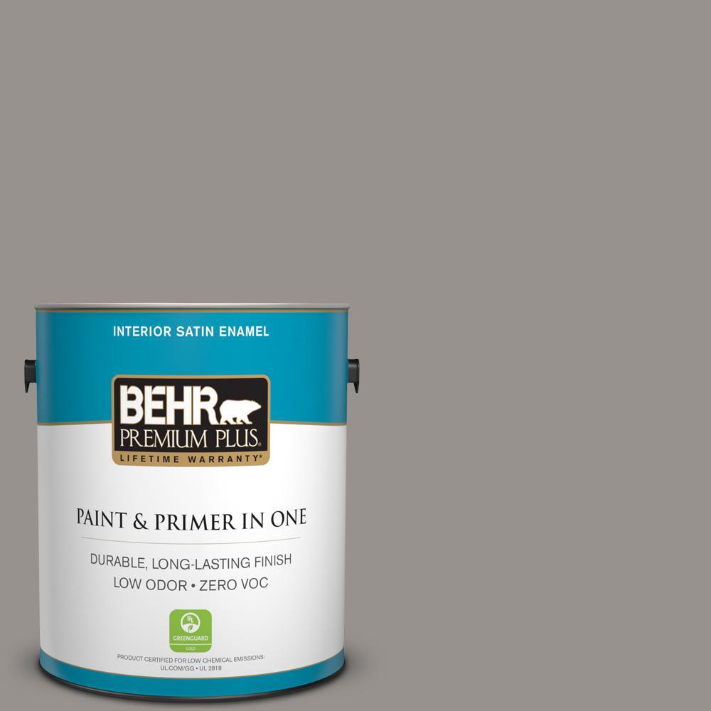 1 gal. #PPU18-16 Elephant Skin Zero VOC Satin Enamel Interior Paint