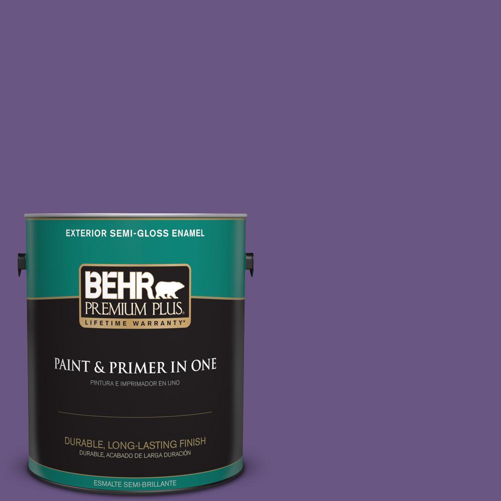1 gal. #PPU16-02 Vigorous Violet Semi-Gloss Enamel Exterior Paint