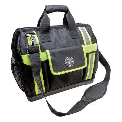 Tradesman Pro 17-1/2 in. High-Visibility Tool Bag in Black and Gray