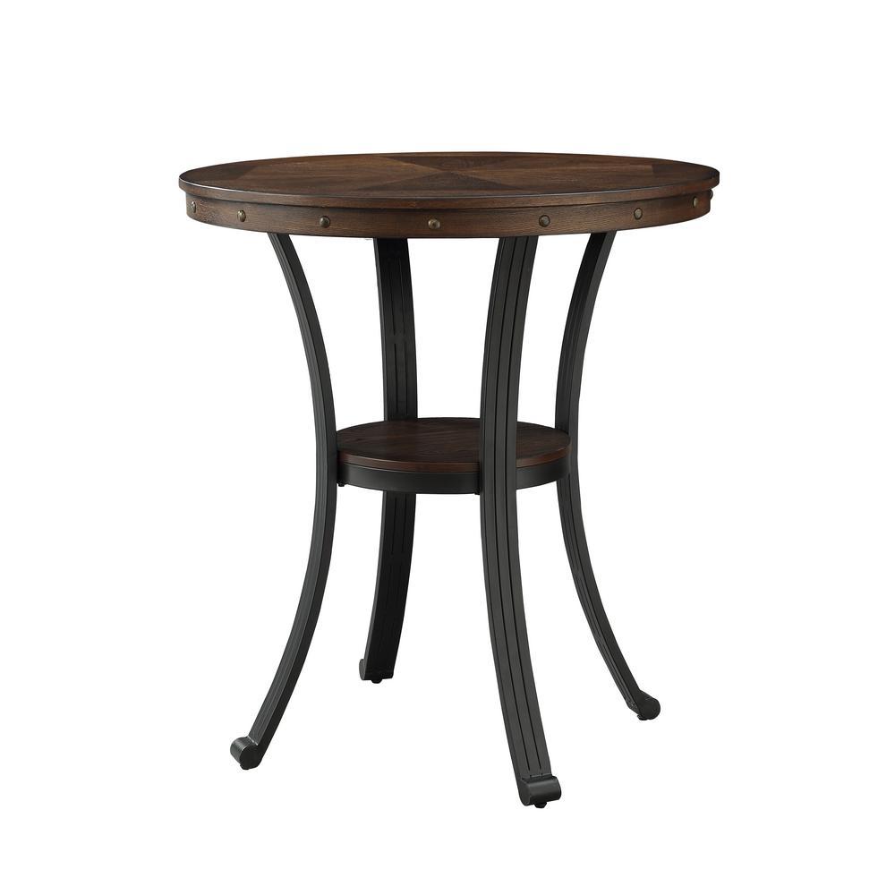 Franklin Rustic Umber Pub Table