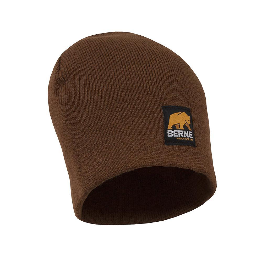 Berne Men s Brown Duck Thinsulate Lined Knit Cuff Cap-H148BD400 ... 8273ec18d0a