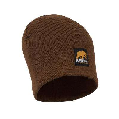 Men's Brown Duck Thinsulate Lined Knit Cuff Cap