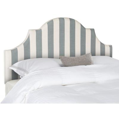 Hallmar Grey/White Stripe King Headboard