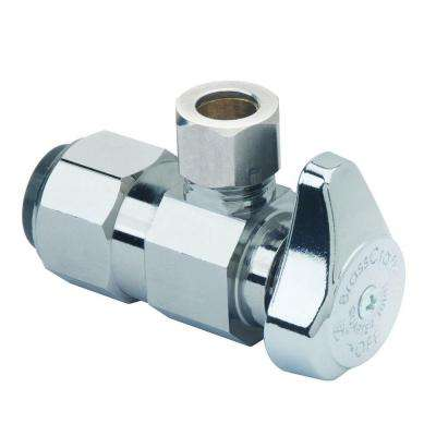1/2 in. Nominal Push Connect Inlet x 3/8 in. O.D. Compression Outlet 1/4-Turn Angle Valve