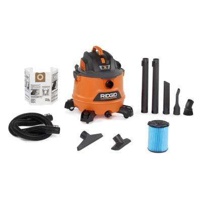 14 Gal. 6.0-Peak HP NXT Wet/Dry Shop Vacuum with Fine Dust Filter, Dust Bag, Hose and 7 Accessories