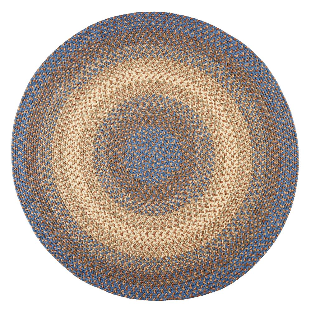 Rhody Rug Ombre Blue Lake 8 Ft X 8 Ft Round Indoor