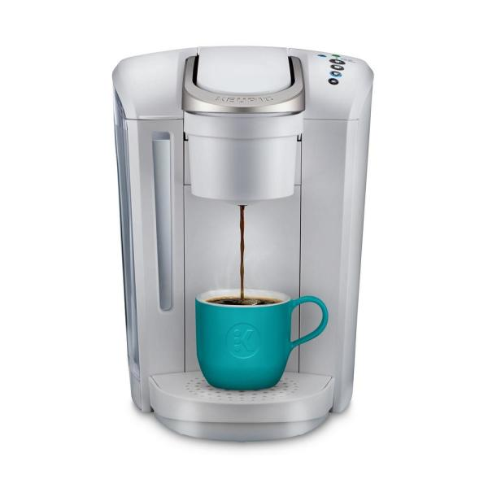K-Select Matte White Single Serve Coffee Maker with Automatic Shut-Off