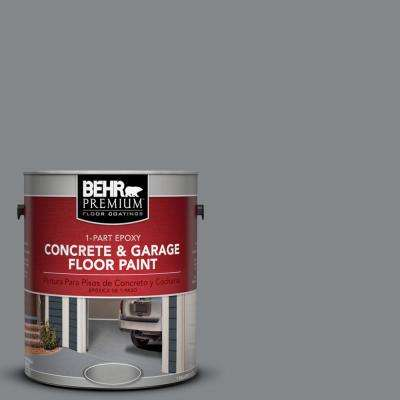 1 gal. #N500-5 Magnetic Gray Color 1-Part Epoxy Concrete and Garage Floor Paint